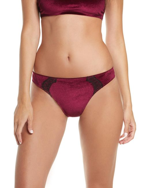 Jason Wu Multicolor Collection Cheeky Velvet Lace Panties
