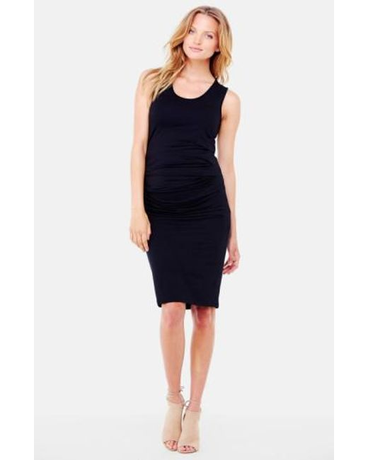 Ingrid & Isabel - Black Ingrid & Isabel Ruched Maternity Tank Dress - Lyst