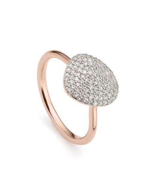 Monica Vinader - Metallic Nura Diamond Pebble Ring - Lyst
