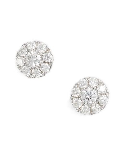 Bony Levy | Metallic Simple Obsessions Pave Diamond Stud Earrings (nordstrom Exclusive) | Lyst