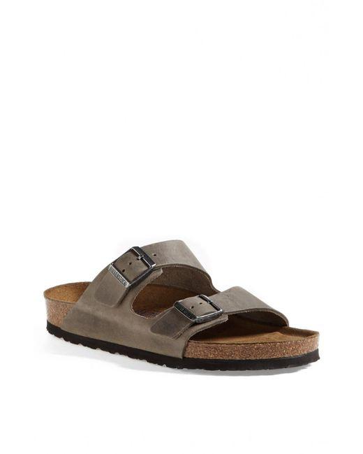 Birkenstock Green Arizona Soft Slide Sandal for men