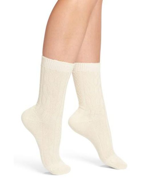 Pantherella Christina Crew Socks in Natural | Lyst