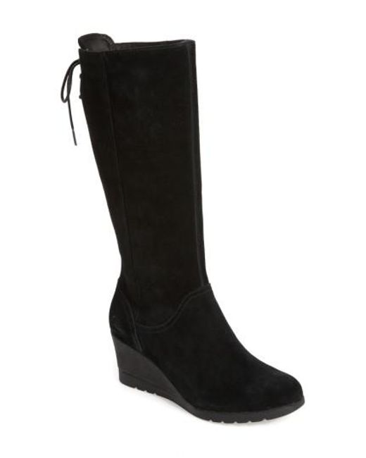 Lyst Ugg Ugg Dawna Water Resistant Wedge Boot In Black