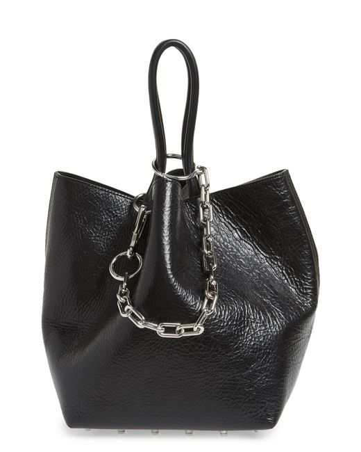 f2e1de7abcc3 Lyst - Alexander Wang Small Roxy Leather Tote Bag - in Black - Save 13%