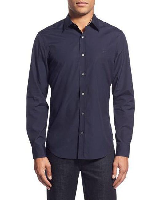Burberry - Blue Cambridge Aboyd Sport Shirt for Men - Lyst