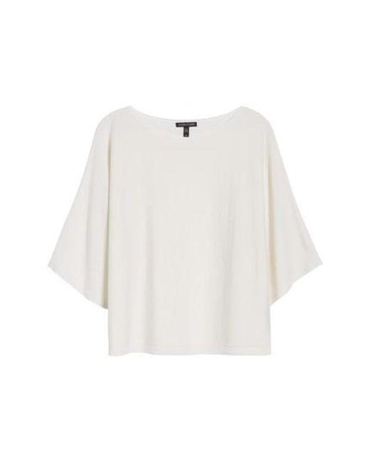Eileen Fisher - White Cashmere Sweater - Lyst