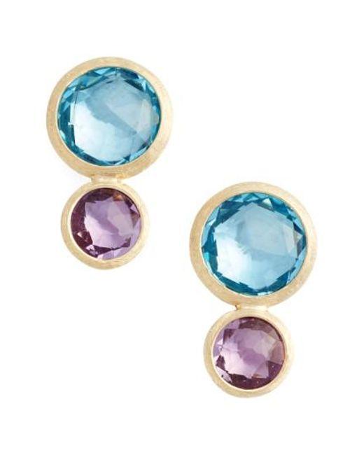 Marco Bicego - Blue Jaipur Semiprecious Stone Drop Earrings - Lyst