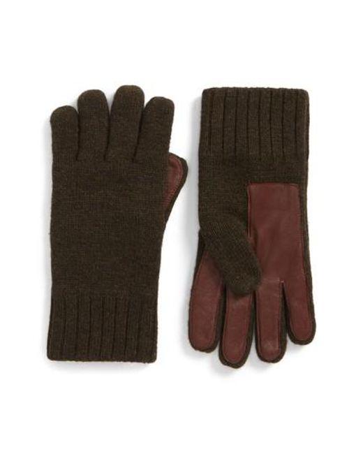 Ugg Multicolor Smart Wool Blend Gloves For Men Lyst