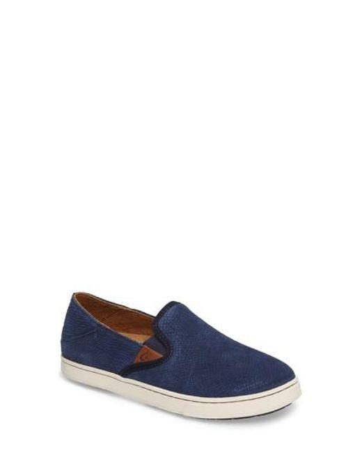 Olukai   Blue Pehuea Slip-on Sneaker   Lyst