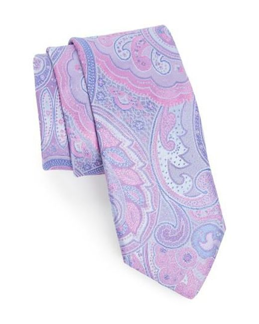 Ted Baker - Purple Paisley Silk Tie for Men - Lyst