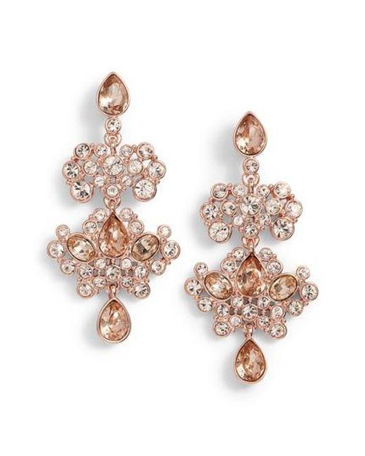 Givenchy   Metallic Crystal Chandelier Drop Earrings   Lyst