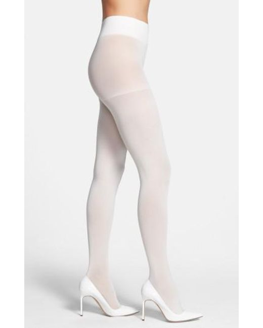 DKNY | White Opaque Control Top Tights | Lyst