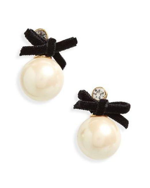 Kate Spade | Multicolor Girls In Pearls Imitation Pearl Drop Earrings | Lyst