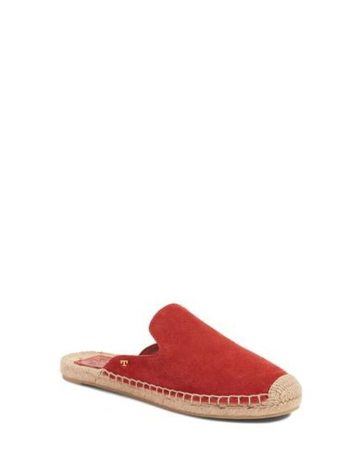 Tory Burch | Red Max Espadrille Mule | Lyst