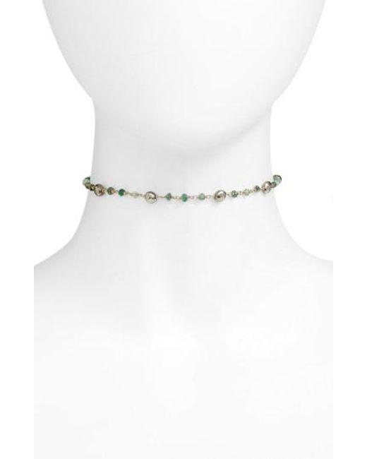Ela Rae - White Diana Semiprecious Stone Satellite Choker - Lyst