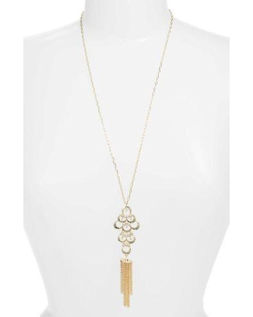 Melinda Maria - Metallic Fringe Pendant Necklace - Lyst