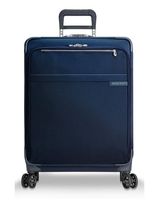 Briggs & Riley Blue Baseline 25 Inch Expandable Rolling Suitcase for men