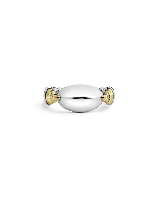 Lagos - Metallic Beloved Ellipse Ring - Lyst