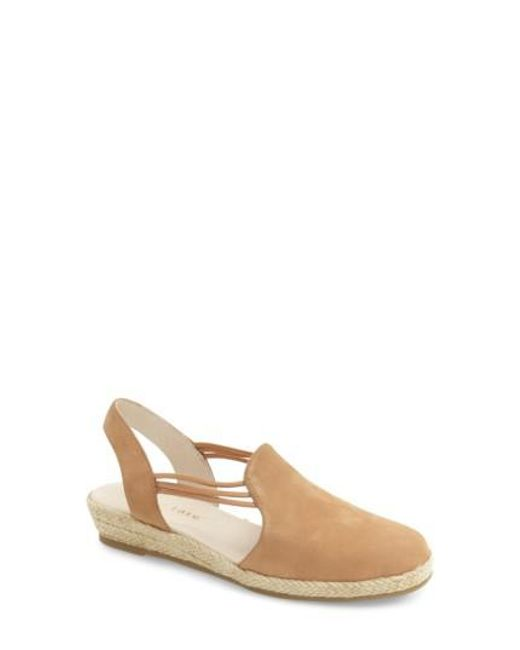 David Tate - Natural 'nelly' Slingback Wedge Sandal - Lyst