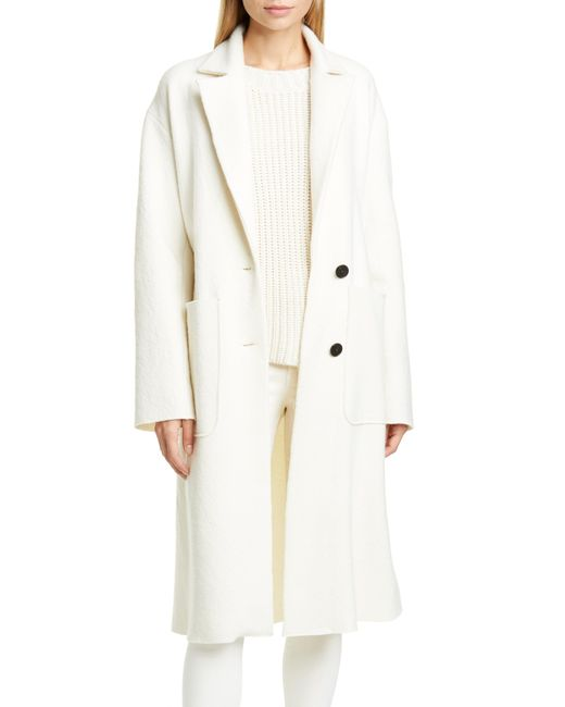Brock Collection Natural Belted Wool Coat
