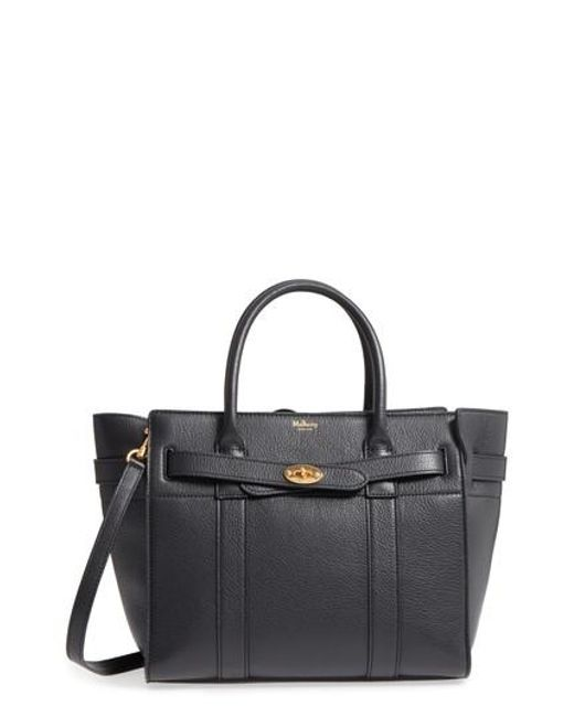 Mulberry - Black Small Zip Bayswater Classic Leather Tote - - Lyst