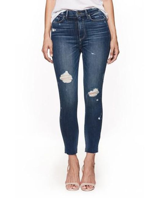 PAIGE - Blue Transcend Vintage - Margot High Waist Crop Skinny Jeans - Lyst