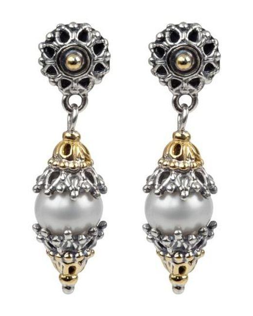 Konstantino   Metallic Classics Dangle Drop Pearl Earrings   Lyst