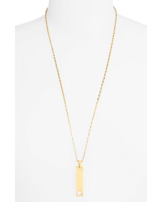 05959f1b4 Ellie Vail - Metallic Jordyn Heart Cutout Bar Pendant Necklace - Lyst ...