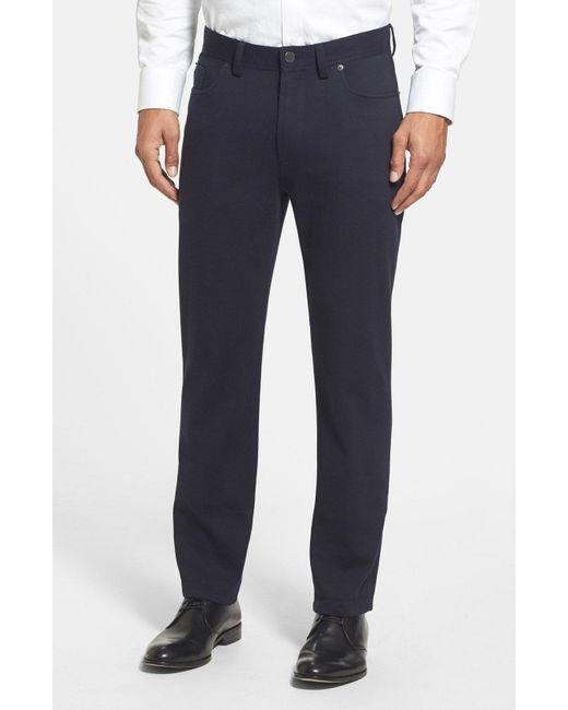 Vince Camuto - Blue Straight Leg Five Pocket Stretch Pants for Men - Lyst