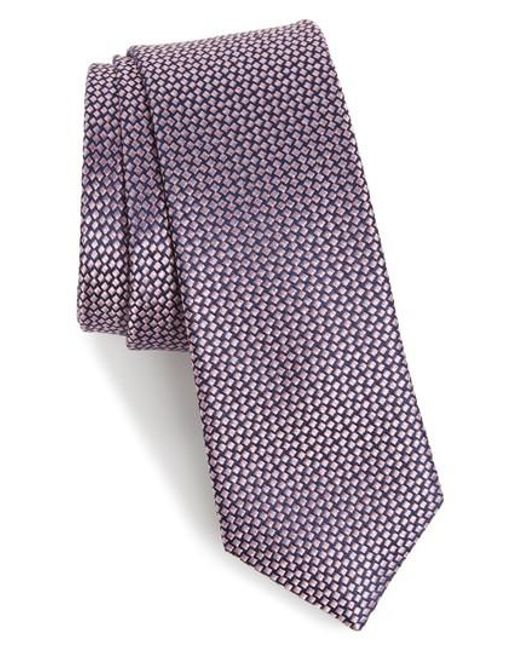 Calibrate | Purple Talley Abstract Silk Tie for Men | Lyst