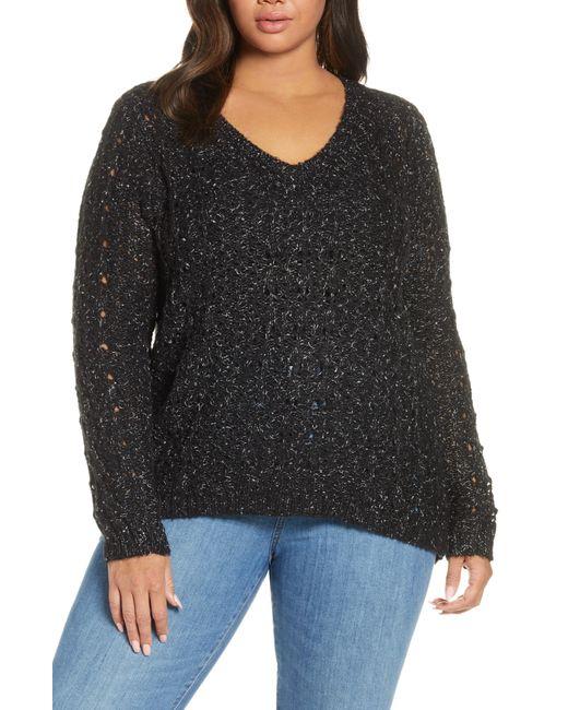 Caslon Black Caslon Brushed V-neck Sweater