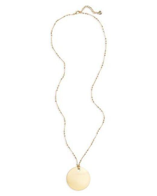 BaubleBar | Metallic Ada Pendant Necklace | Lyst