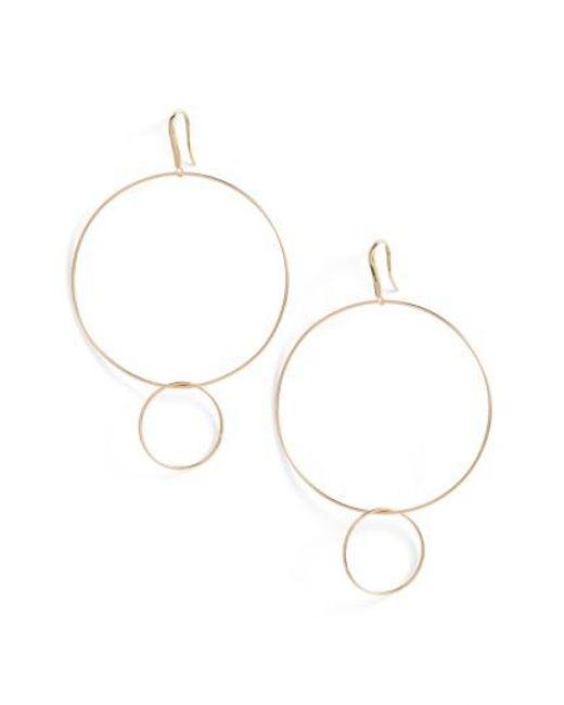 Lana Jewelry | Metallic Frontal Hoop Earrings | Lyst