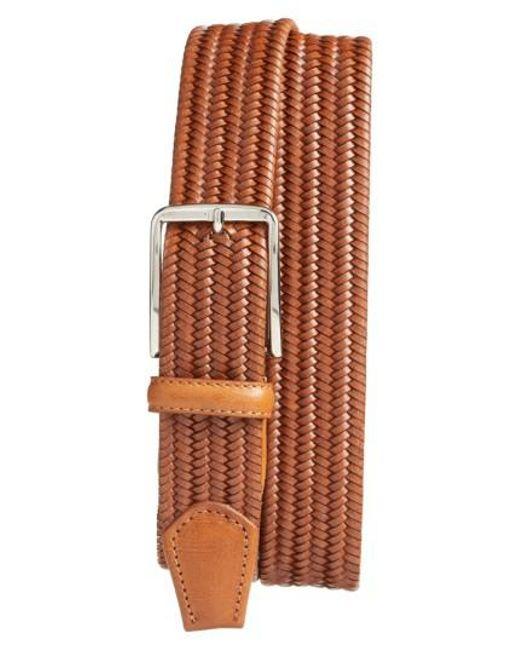Martin Dingman - Brown Lexington Braided Leather Belt for Men - Lyst