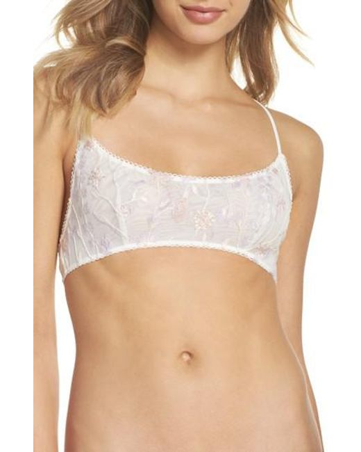 Free People - White Intimately Fp So Into You Bralette - Lyst