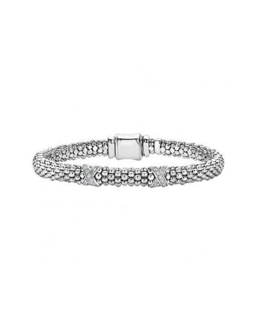 Lagos - Metallic 'signature Caviar' Diamond Rope Bracelet (online Only) - Lyst