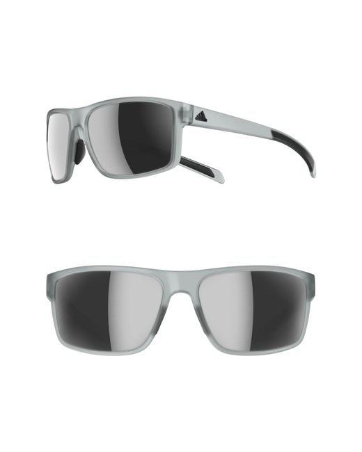 aa1a695aae Lyst - adidas Whipstart 61mm Mirrored Sunglasses in Gray