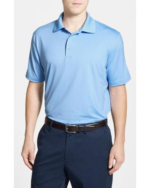 Peter Millar - White Moisture Wicking Stretch Jersey Polo for Men - Lyst