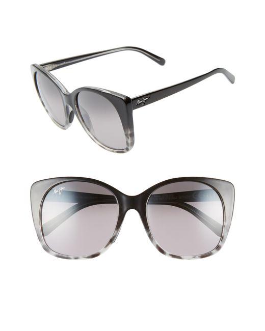 Maui Jim - Multicolor Mele 55mm Polarizedplus2 Round Cat Eye Sunglasses - - Lyst