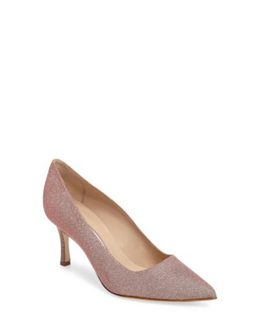 Manolo Blahnik - Natural 'bb' Pump - Lyst