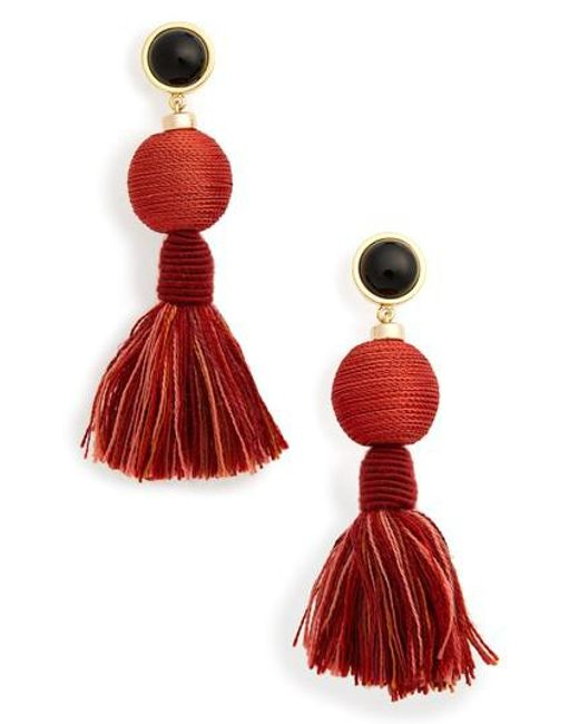 Lizzie Fortunato | Red Modern Craft Tassel Drop Earrings | Lyst