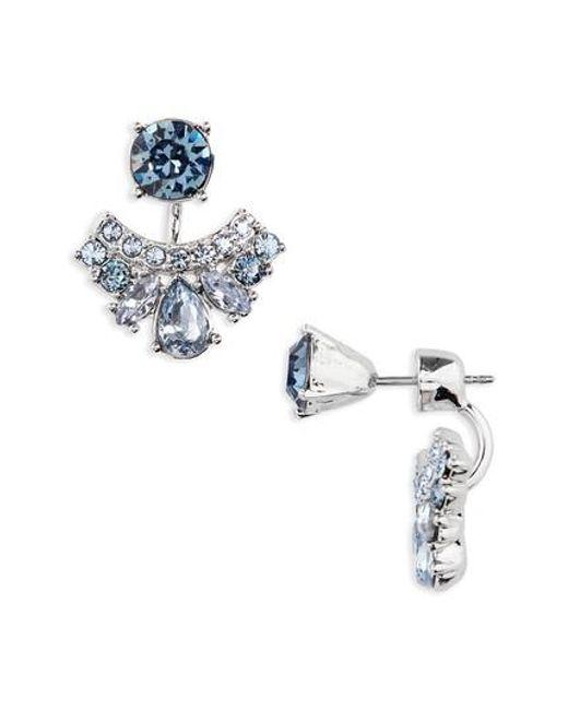 Givenchy | Metallic Verona Drop Back Earrings | Lyst