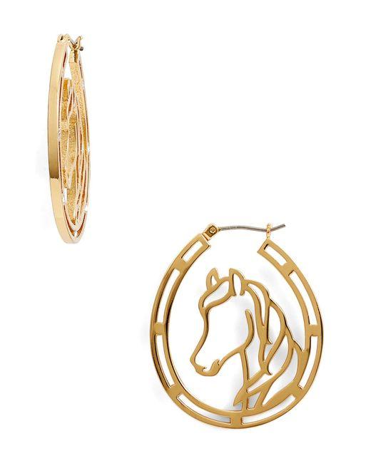 Kate Spade - Metallic Wild Ones Horse Wire Hoop Earrings - Lyst