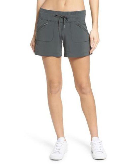 Zella | Gray Switchback Shorts | Lyst