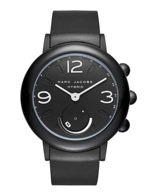 Marc Jacobs | Black Marc Jacobs Riley Hybrid Rubber Strap Watch | Lyst