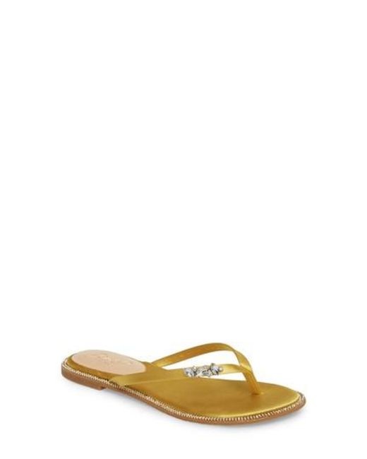 Badgley Mischka Women's Thalia Crystal Embellished Flip Flop