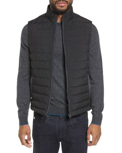 Ted Baker | Black Jozeph Quilted Down Vest for Men | Lyst