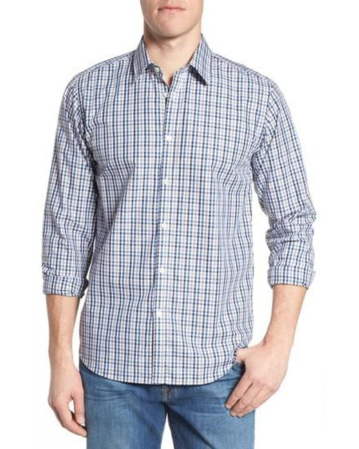 Jeremy Argyle Nyc - Blue Comfort Fit Check Sport Shirt for Men - Lyst