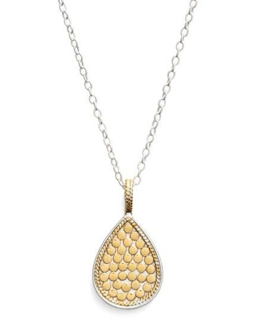 Anna Beck - Metallic 'gili' Reversible Teardrop Pendant Necklace - Lyst