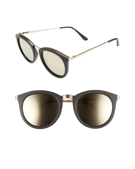 Le Specs - Black No Smirking Limited 50mm Sunglasses - Lyst